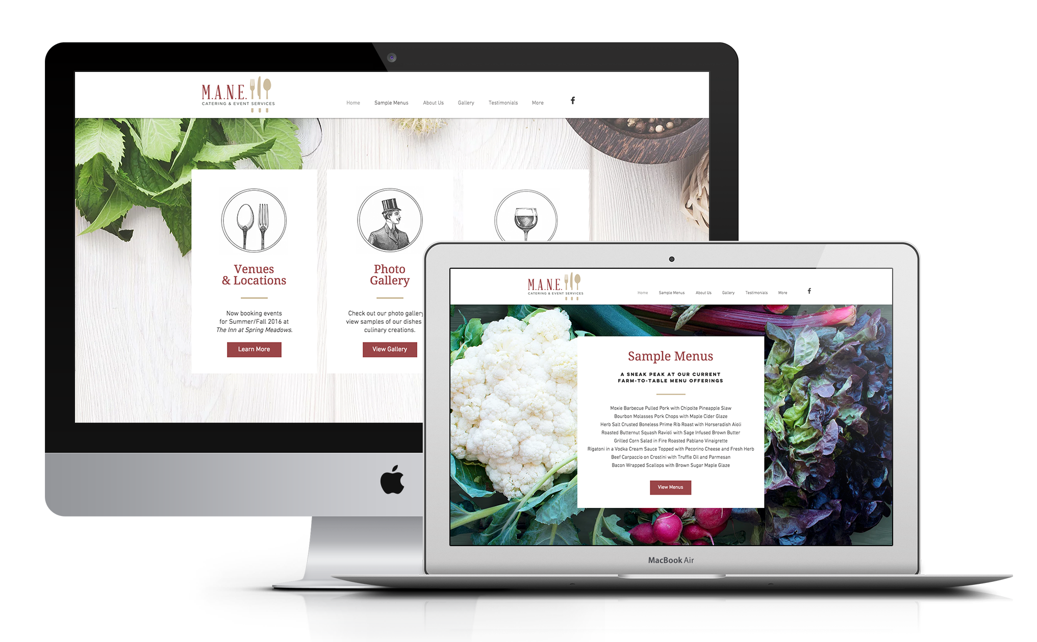 MANE Catering Website Design